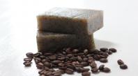 grains de café, savons