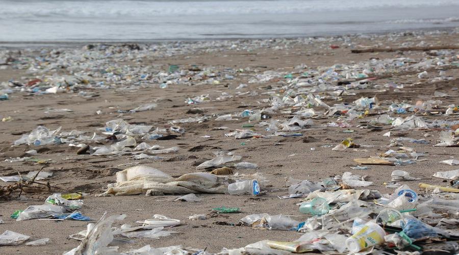 plage, sable, plastiques