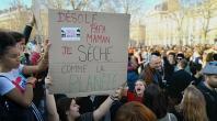 Manifestation étudiante pour le climant