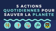 Infographie : 5 actions climatiques quotidiennes à la portée de tous