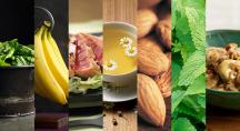 image coupée de plusieurs aliments qui aident à bien dormir