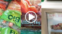 Photos de légumes bio dans une grande surface