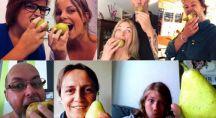 Différents selfies avec un fruit publiés sur les réseaux sociaux