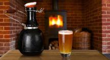 Bière artisanale au coin du feu