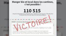 Page de la pétition montrant les 110.000 signatures