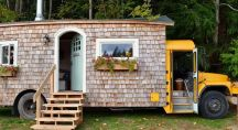 un bus restauré pour faire une maison