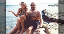 Kazim Gürbüz et sa femme à la plage