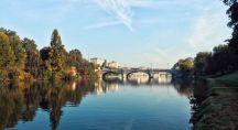 le fleuve de la ville de turin