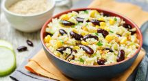salade de céréales et légumineuses riche en protéines végétales