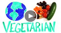 une planète végétarienne et des légumes
