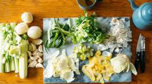 des épluchures de fruits et légumes à recycler
