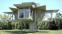 Une maison mobile et autonome qui s'installe toute seule en 8 minutes
