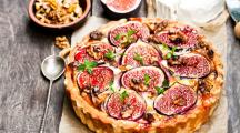 recette de tarte aux figues chèvre miel noix
