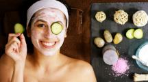 femme concombre masque beauté cosmétiques