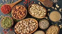 fruits à coques, noix et graines bonnes pour le coeur