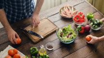 plan de travail cuisine aliments recette