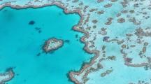 vue de haut de la barrière de corail