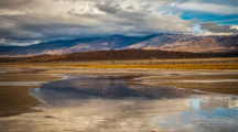 Un lac formé dans un désert de Californie