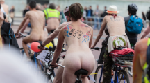 Un défilé World Naked Bike Ride à Londres, le 13 juin 2015.