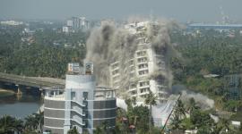 Hôtels en Inde détruits