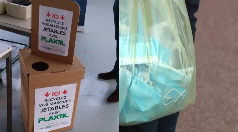 Plaxtil la première solution de recyclage des masques jetables