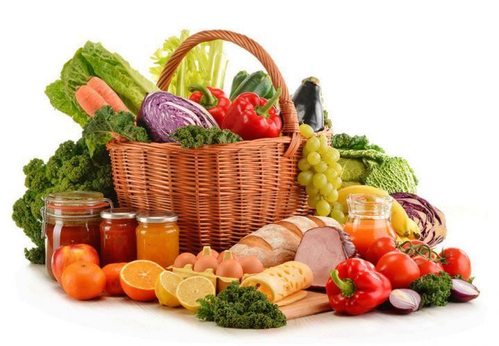 plateau d'aliments divers