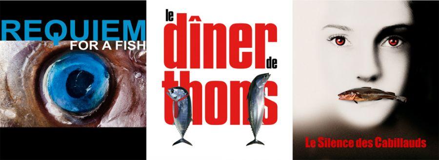 Affiches de films détournées avec des poissons