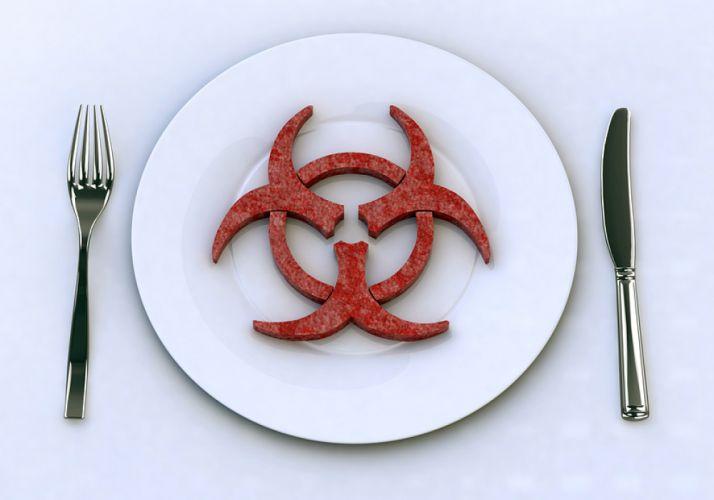 Assiette blanche contenant le signe