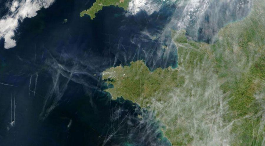 Image satellite de la Bretagne