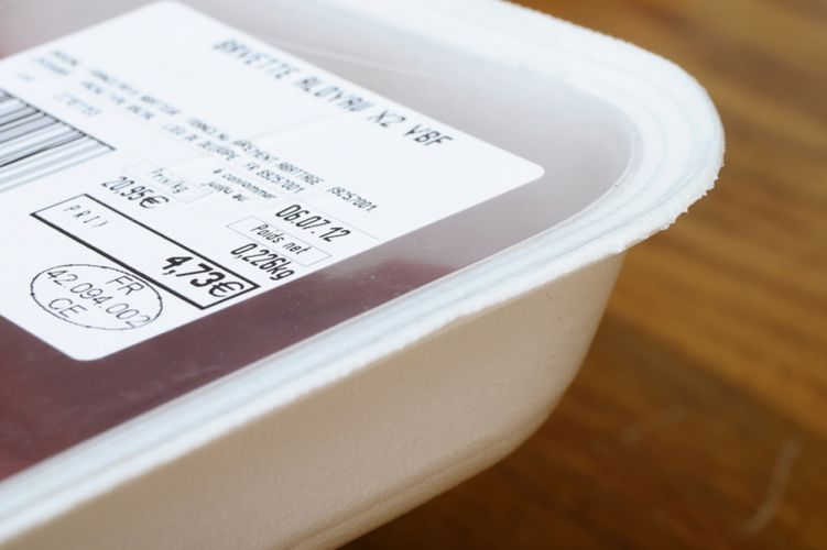 Emballage de viande sous plastique
