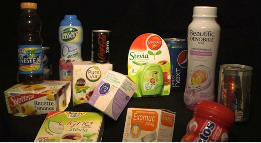 Produits alimentaire contenant des édulcorants de synthèse ou de la stevia