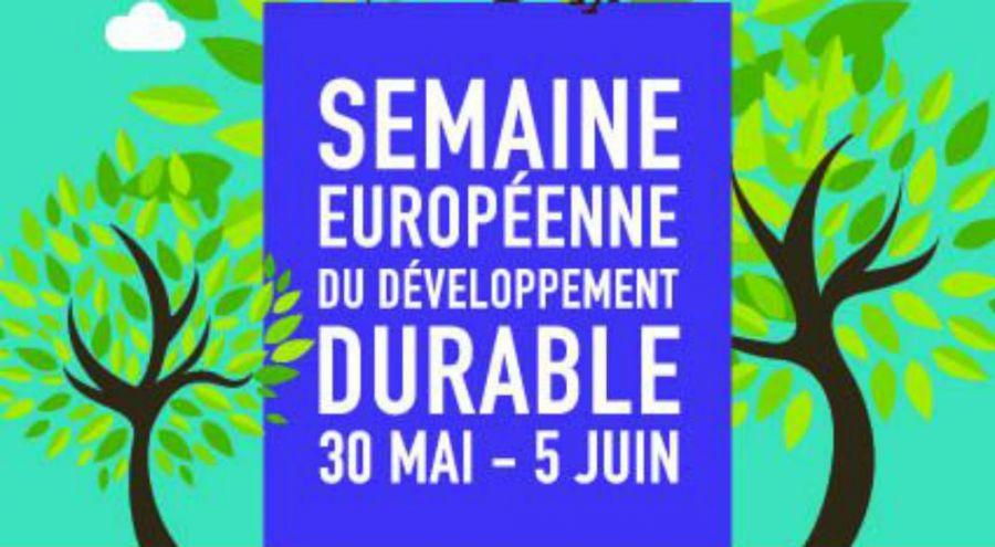 Affiche de la semaine européenne du développement durable de la commune de Louvil
