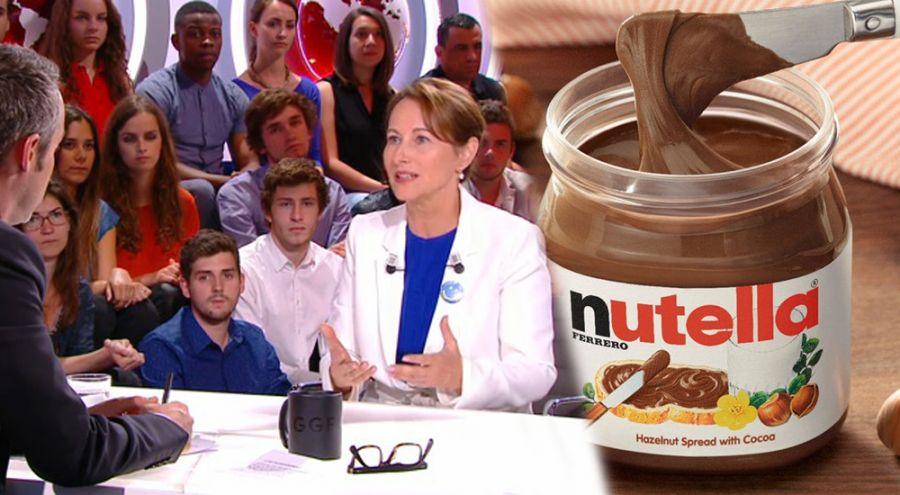 Ségolène Royal lors de l'émission Le petit journal