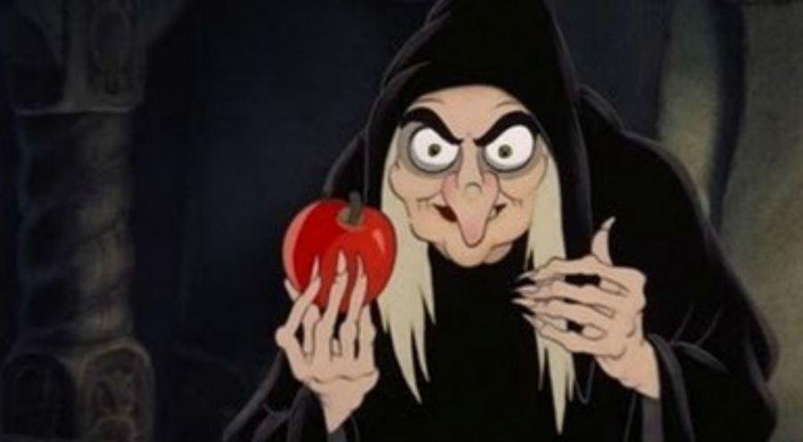 Socière de Blanche Neige et sa pomme empoisonnée