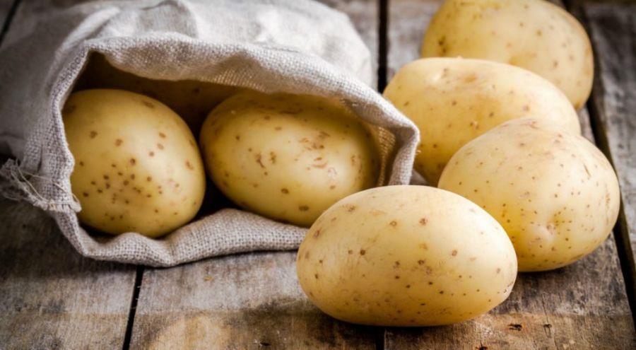 Pommes de terre étalées sur une table