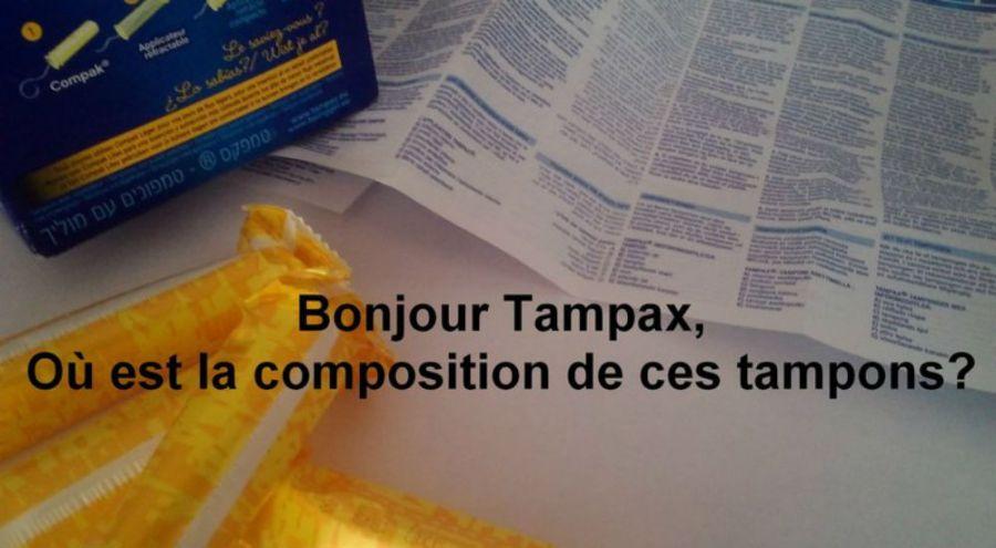 Boîte de tampons de la marque tampax