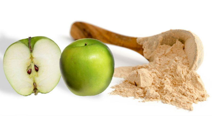 pommes vertes et farine