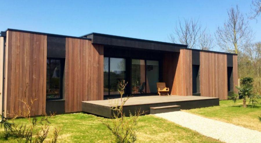 Une maison Pop-Up House brune