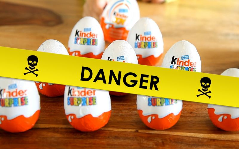 danger des chocolats kinder surprises