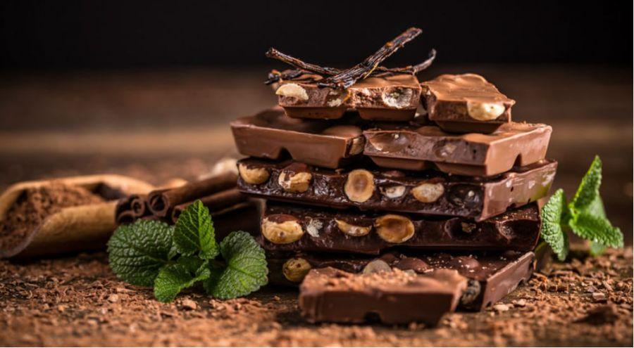 du chocolat aux noisettes