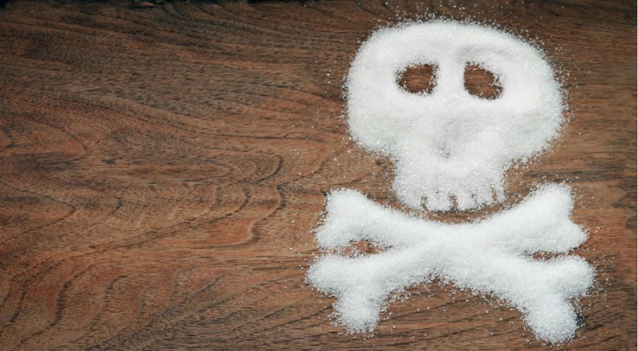 une tête de mort en sucre