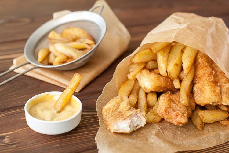 un repas de type fish and chips