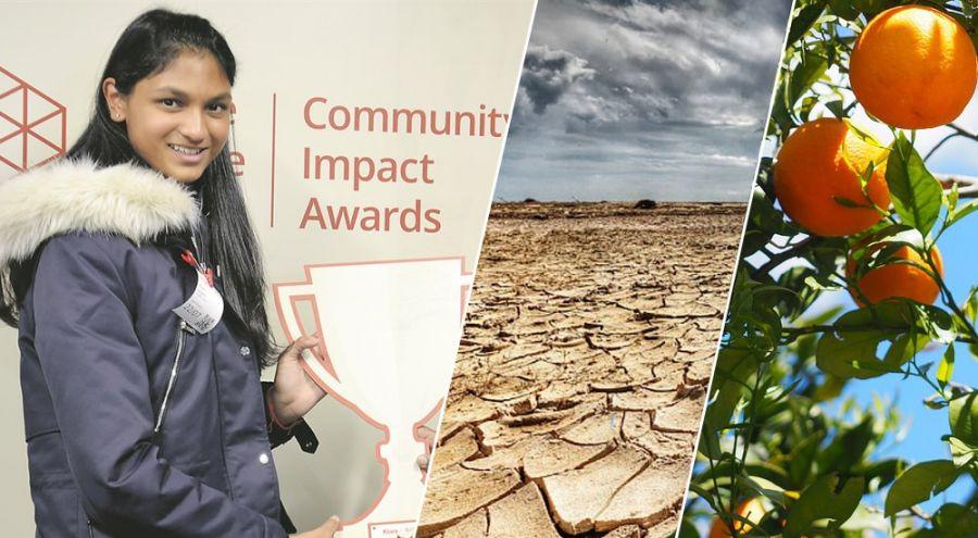 Kiara Nirghin, la jeune lycéenne qui trouve une solution pour lutter contre la sécheresse avec des oranges