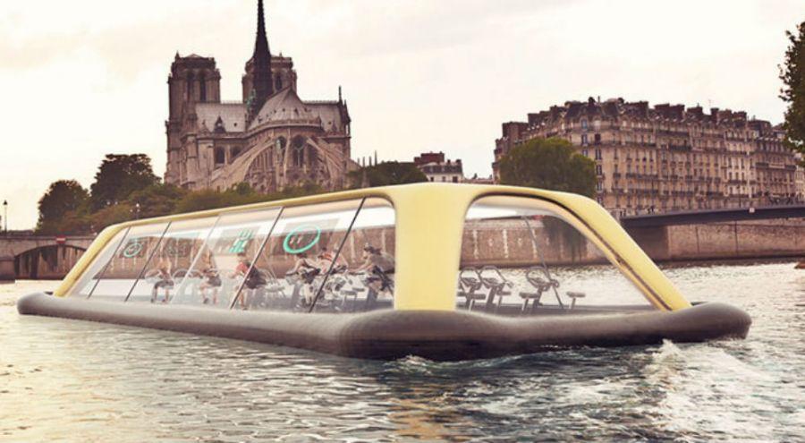 Cette salle de sport flottante pourrait naviguer grâce à l'énergie des sportifs
