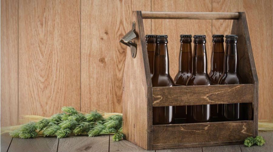 des bouteilles en verre consignées
