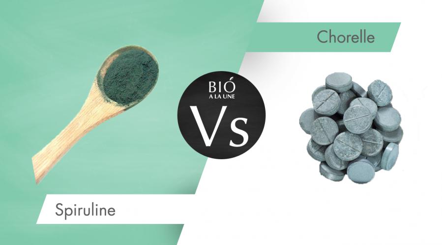Spiruline ou chlorelle : quelles différences ?
