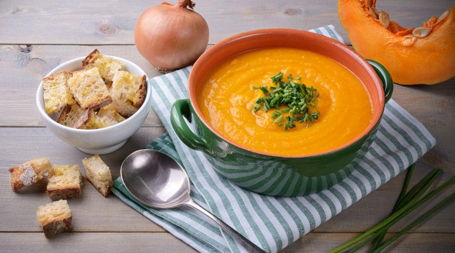 soupe de potiron oignon et pain