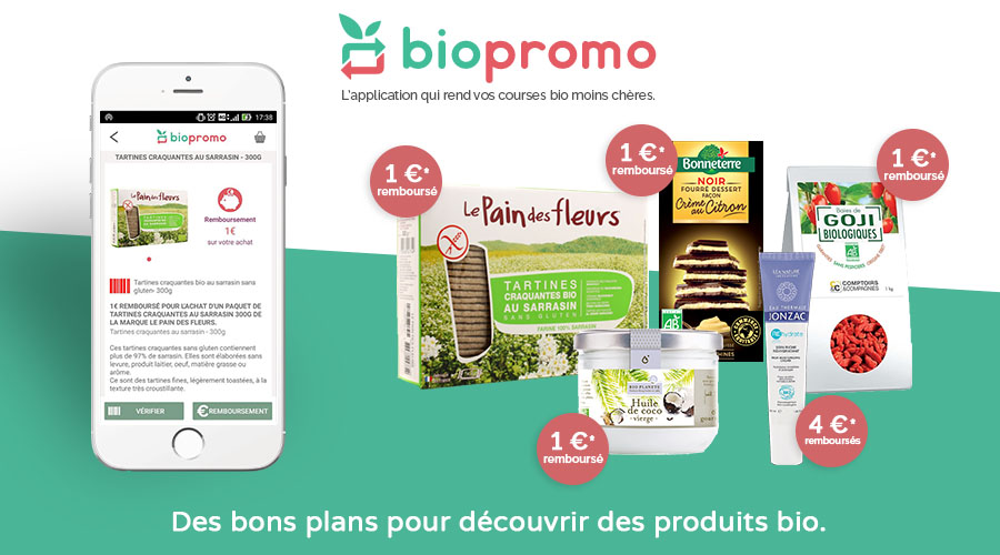 Biopromo, l'application qui rembourse nos courses bio