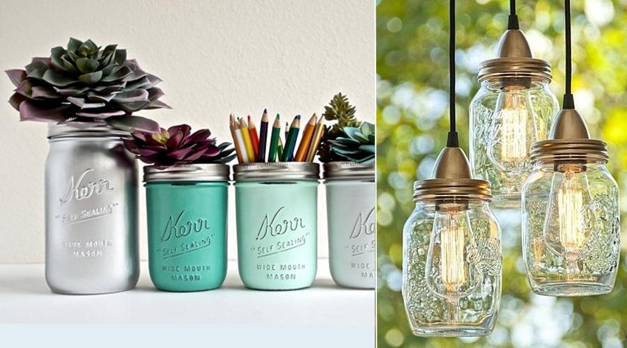 15 idées déco pour recycler bocaux et Mason Jar
