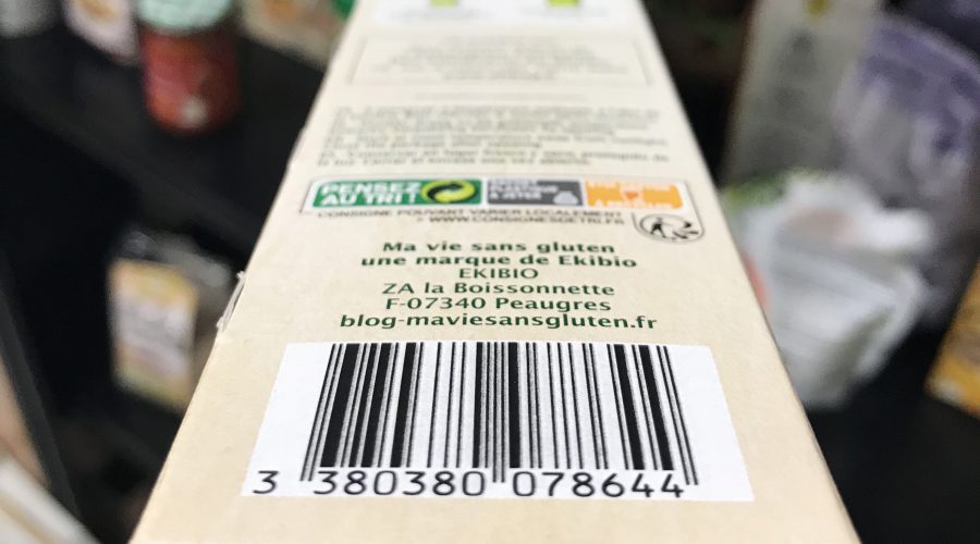 photo d'un code barre d'un produit